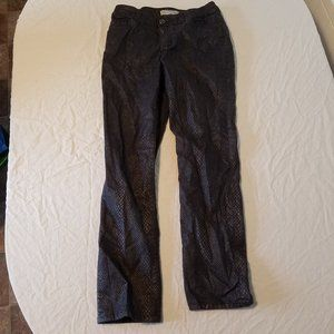 Chico's Size 1 Snakeskin Boot Cut Jeans